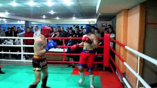Соревнования по кикбоксингу в клубе Медведь