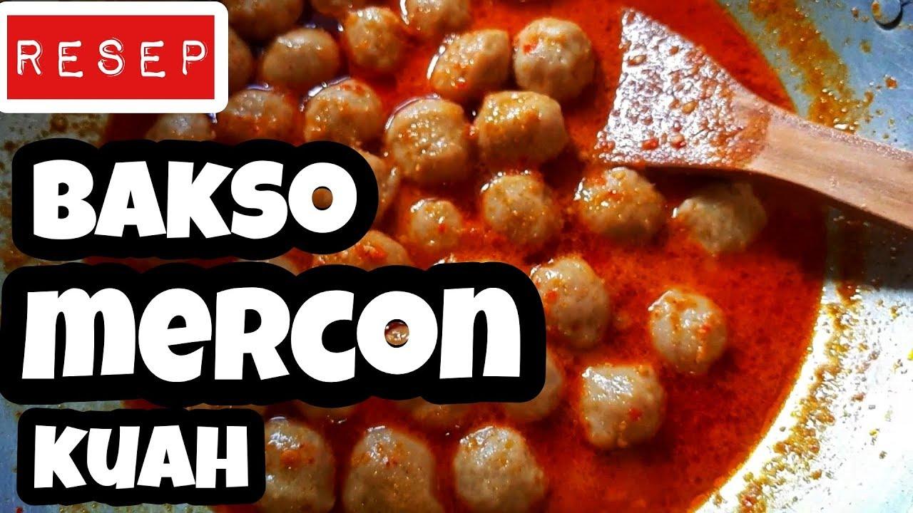RESEP BAKSO SAPI MERCON KUAH , ENAK N BIKIN GOBYOS by youtuber magelang