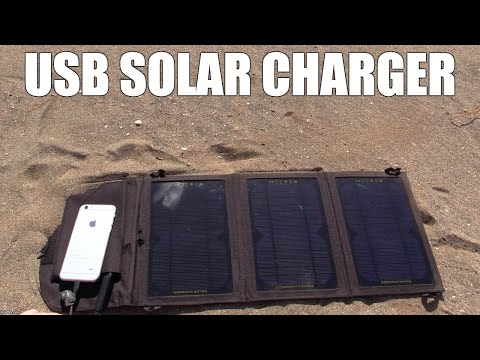 USB Solar Panel from CDRKING