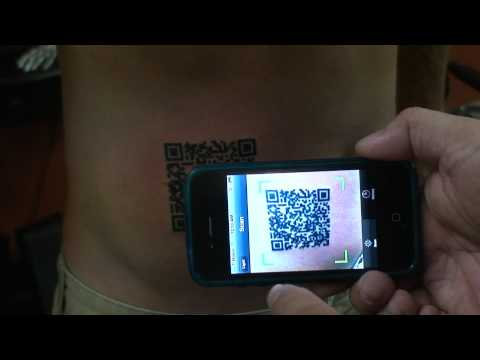 QR code done at RockStar Ink in Oak Park