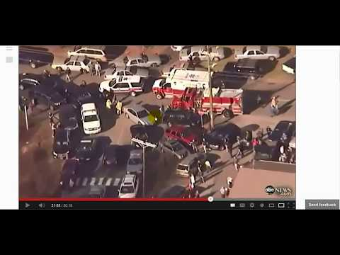 SANDY HOOK - HOLLYWOOD MOVIE SET- NO AMBULANCES - SANDY HOOK HOAX CONSPIRACY
