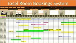 Booking room calendar spreadsheet excel. Excel Room Bookings Calendar Youtube