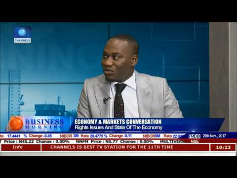 Rights Issues And The State Of Nigeria's Economy Pt 1 | Business Morning |