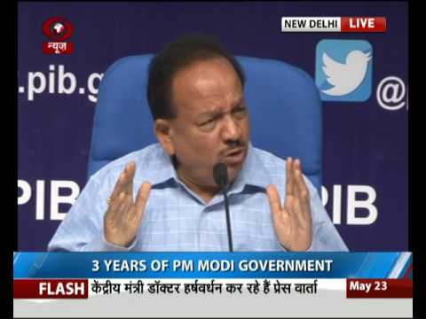 Union minister Dr. Harshvardhan briefs media on Key achievements of Ministry