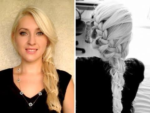 waterfall braid tutorial prom wedding