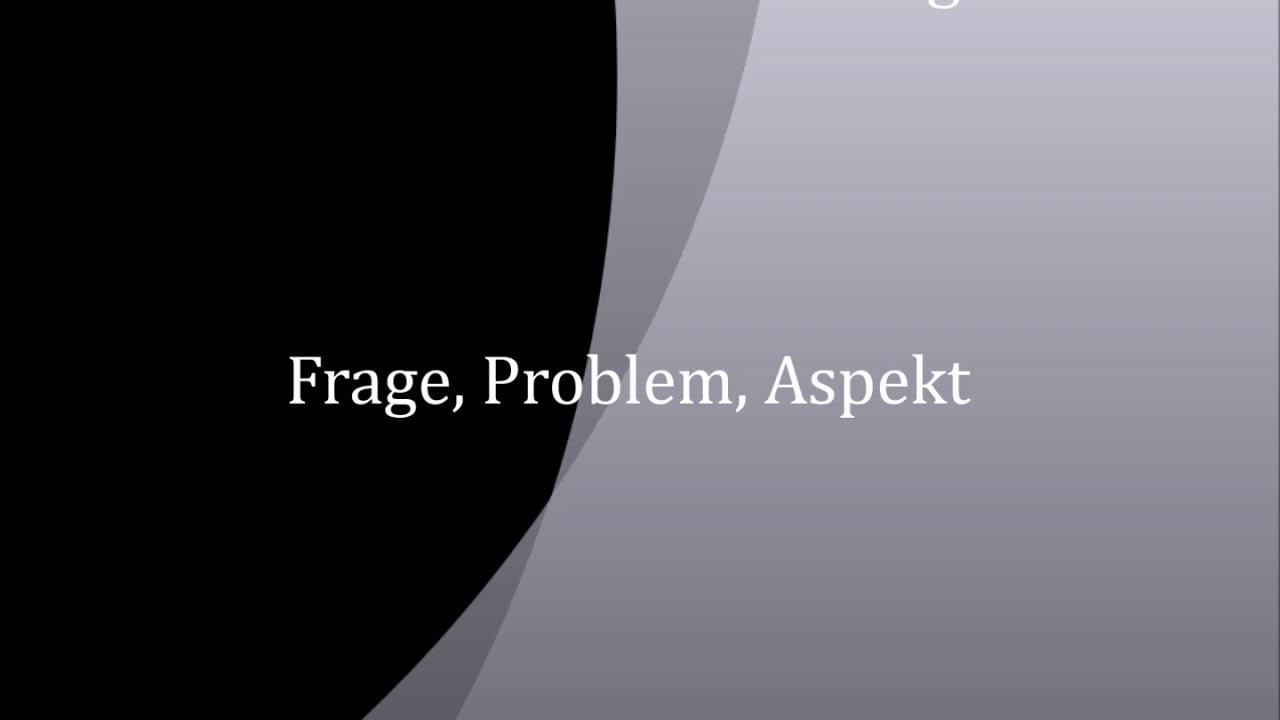 Problem Englisch
