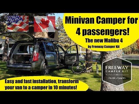 DIY Minivan Camper Van Conversion For 4 Passengers. The New Malibu 4 2020 From Freeway Camper Kit!
