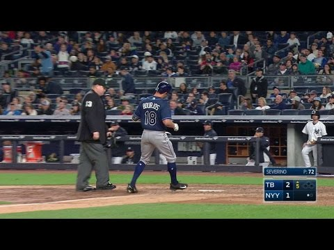 TB@NYY: Bourjos pulls a solo home run to left field