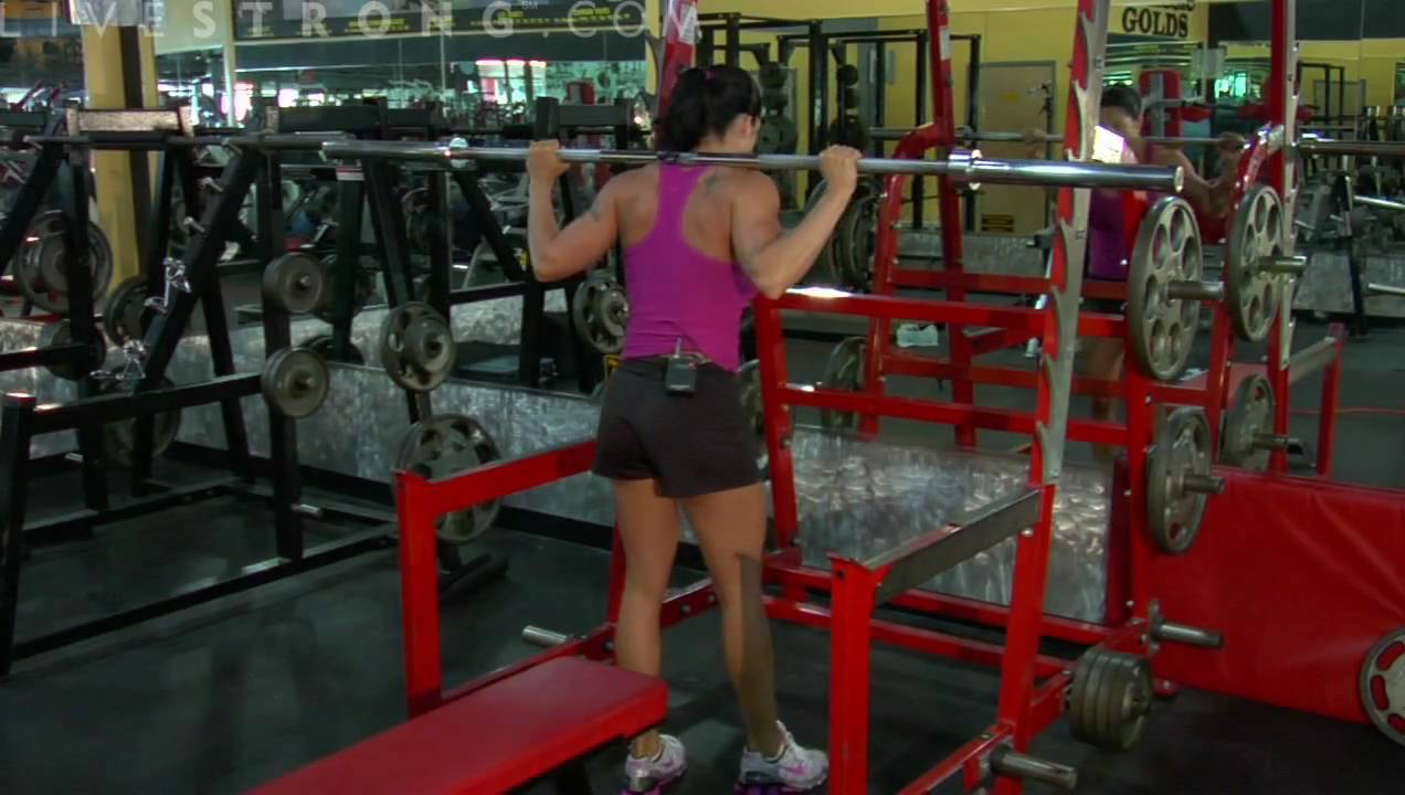 How to Do Barbell Squats to a Bench - YouTube