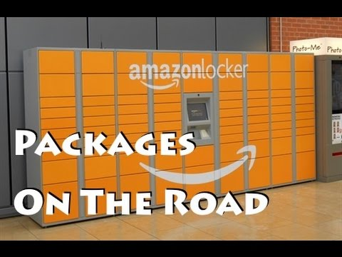 Amazon Lockers for Packages on the Road