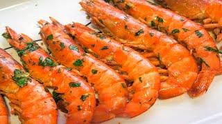 Langostinos o gambas a la plancha con ajo y perejil   Receta muy fácil y deliciosa