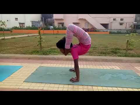 hand balance virschika asana donekavya  youtube