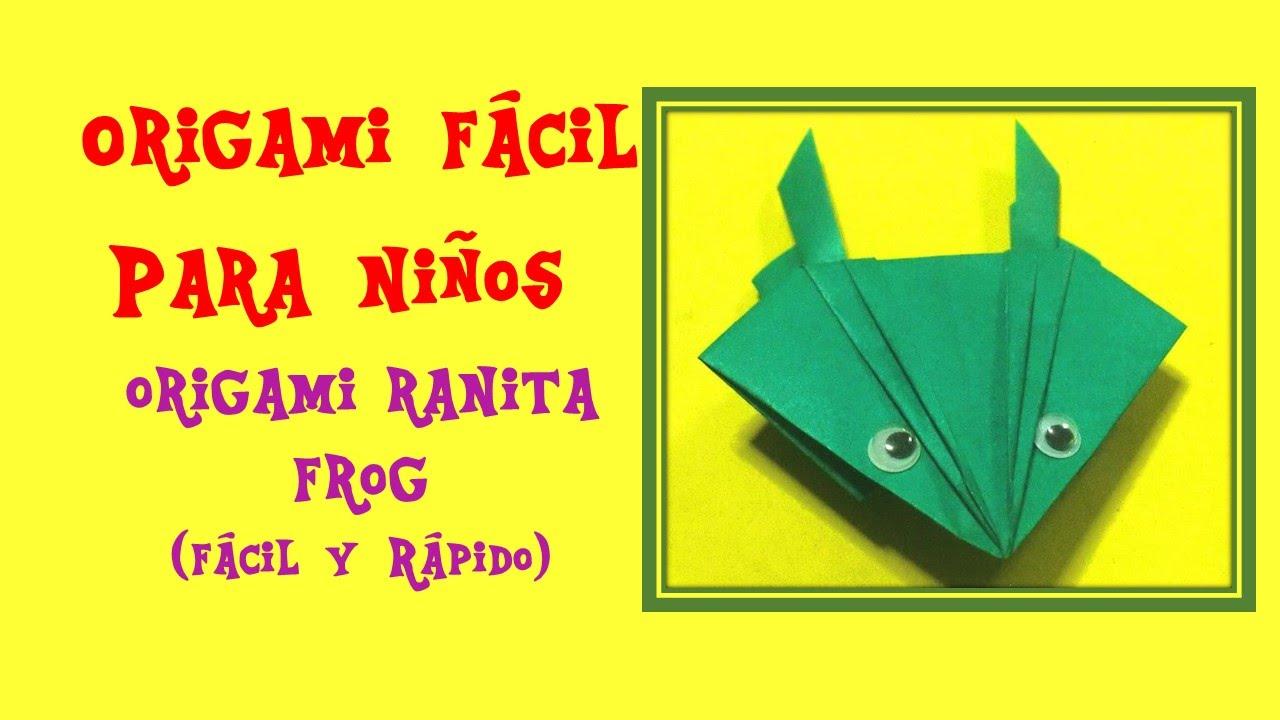 origami facil para ni os origami rana como hacer una rana