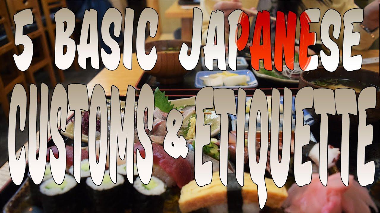 5 basic japanese customs etiquette youtube 5 basic japanese customs etiquette m4hsunfo