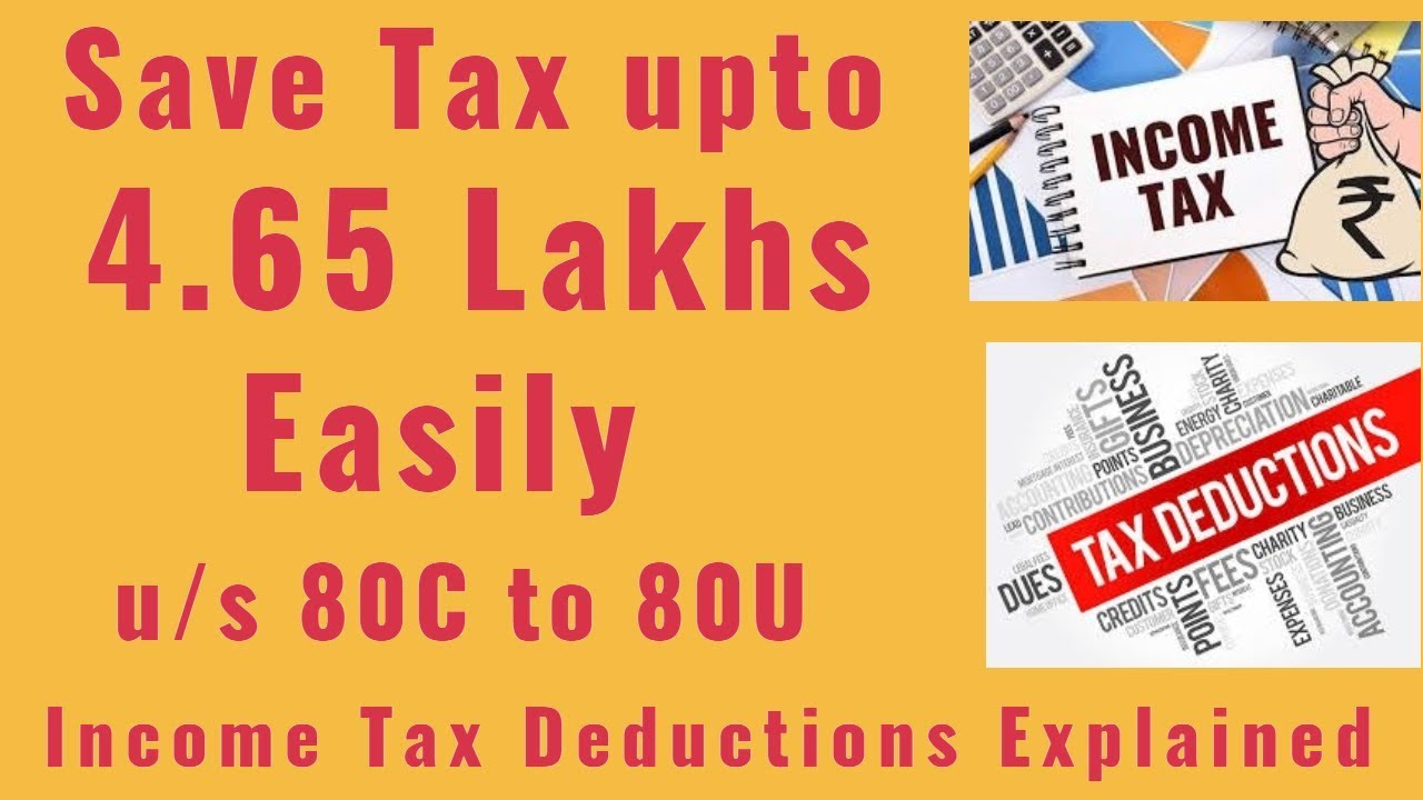 How to save Tax under Section 80C to 80U in Tamil |All ...