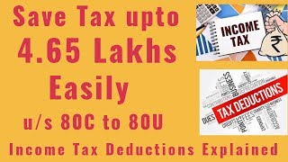 How to save Tax under Section 80C to 80U in Tamil |All Income Tax Deduction Section Explain in Tamil