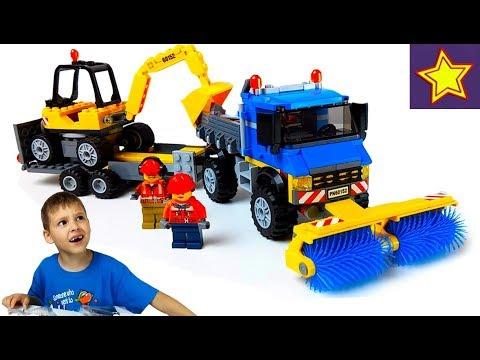 Машинки Уборочная машинка с Экскаватором Лего + Конкурс LEGO (ЗАВЕРШЕН)