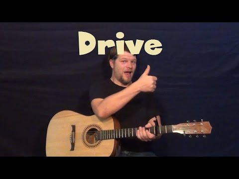 Drive (Incubus) Easy Guitar Lesson How to Play Tutorial Acoustic Solo TAB