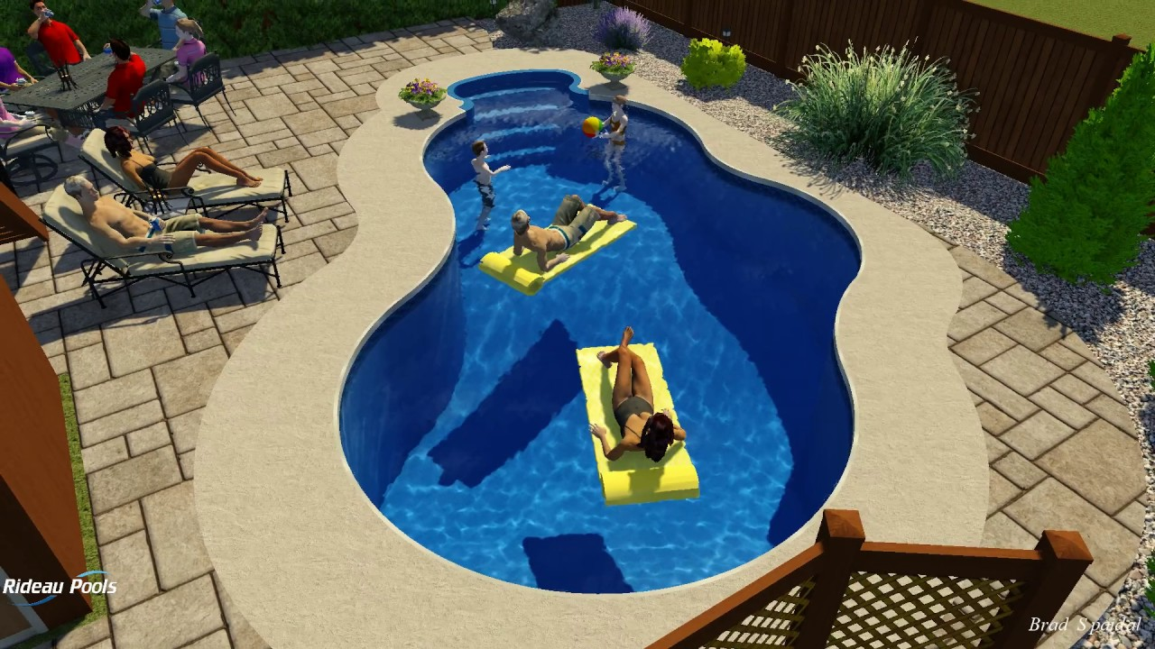 14 x 28 rainbow pool by rideau pools ottawa youtube for Pool design ottawa