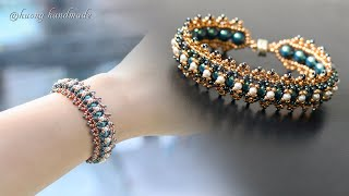 Centipede beaded bracelet. How to make jewelry. Beading tutorial