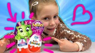 КИНДЕР САФИРАС !!! Новые Киндер Сюрпризы Сафирас! Дракончики Safiras Kinder Surprise + Конкурс #28