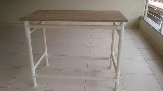 Mesa feita  de cano PVC
