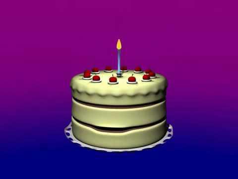 Happy birthday cake singing