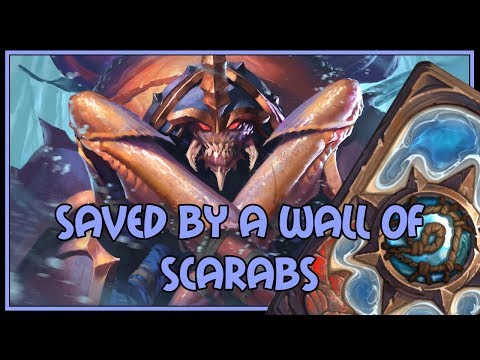 Hearthstone: Saved by a wall of scarabs (big druid)