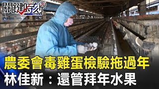 農委會「毒雞蛋」檢驗拖過年 林:農委會正事不做還管拜年水果!! 關鍵時刻20190218-3 林佳新
