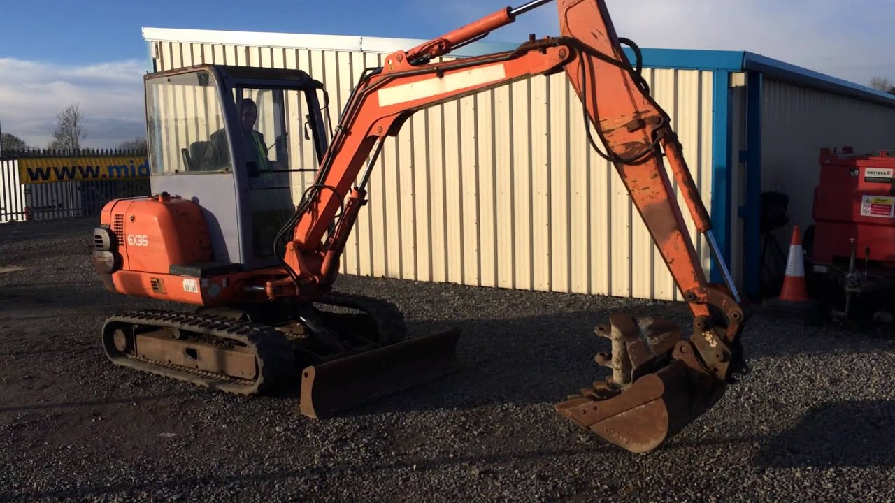 2001 hitachi ex35 3 5 ton mini digger youtube. Black Bedroom Furniture Sets. Home Design Ideas