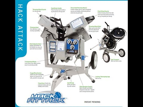 Hack Attack Junior Softball Pitching Machine Free Shipping