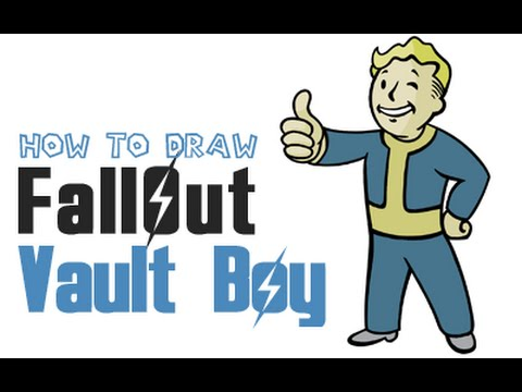 How To Draw Vault Boy From Fallout