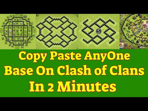 How To Copy Paste Others Clash Of Clans Base
