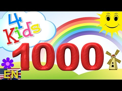Numbers counting from 100 to 1000 for children in 100 steps Counting hundred to thousand english