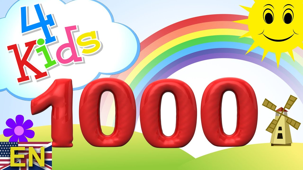 Numbers counting from 100 to 1000 for children in 100 for Build a new house for 100 000