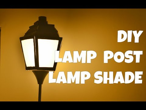 DIY PAPER LAMP POST || Arts,Crafts and Timelapse