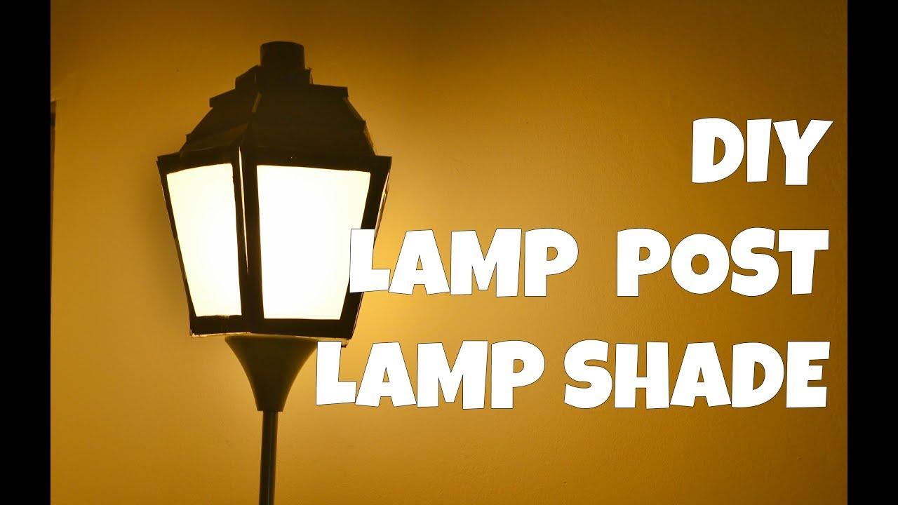 diy paper lamp post