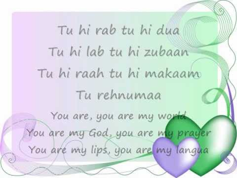 Tu Hi Rab Tu Hi Dua-Lyrics and English Translation(Dangerous Ishq)