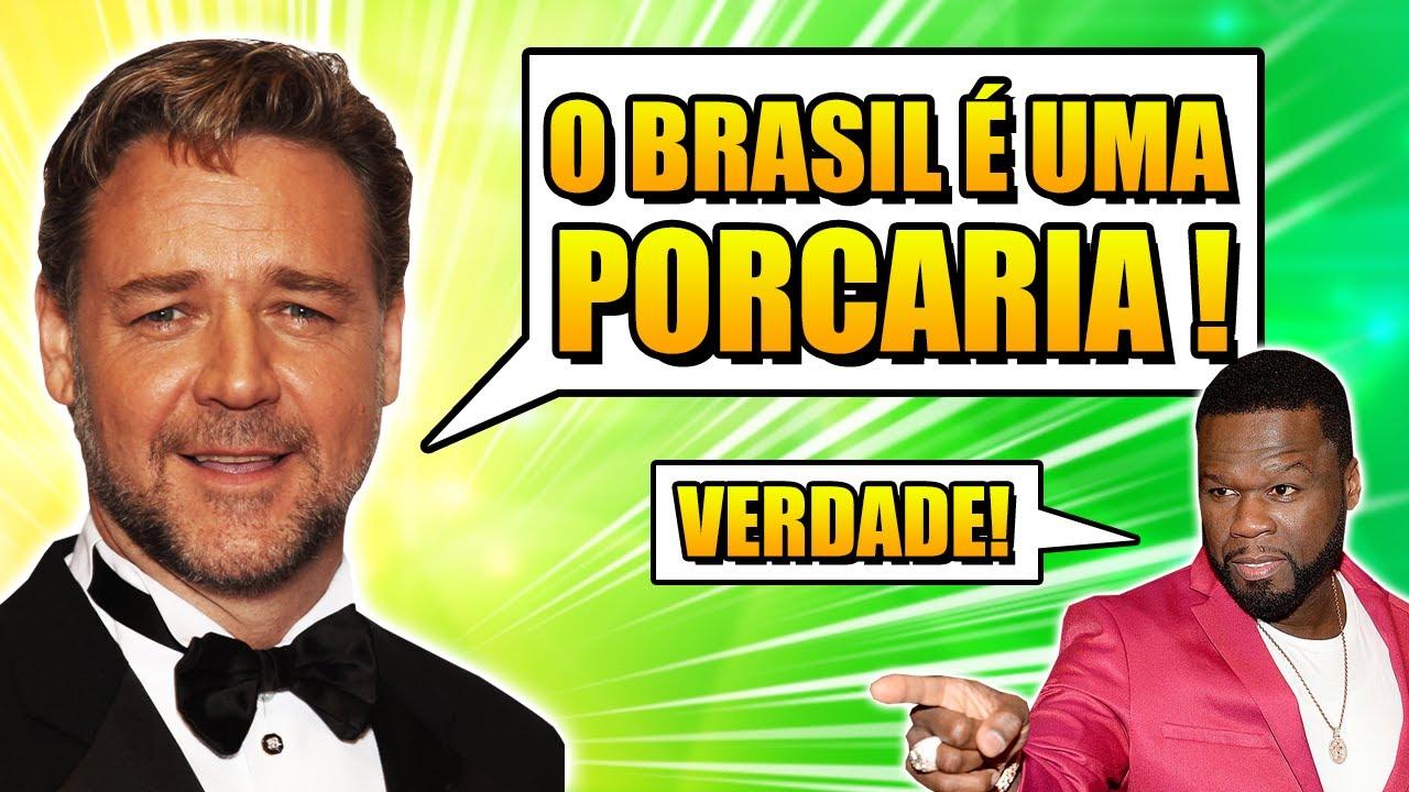 FAMOSOS QUE FALARAM MAL DO BRASIL! (E SE DERAM MAL) #2