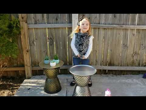 Spring Dollar Tree DIY Patio Table / Plant Stand