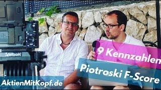 Die besten Qualitätsaktien finden mit 9 Kennzahlen des Piotroski F-Scores! Mit Christian W. Röhl