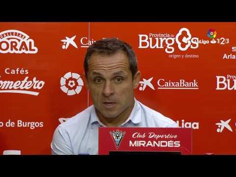 Rueda de prensa de Sergi Barjuan tras el CD Mirandés vs RCD Mallorca (2-2)