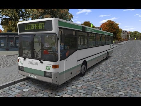 OMSI 2 | MB O405 in Neuendorf | Going to garage / depot  |  60FPS |