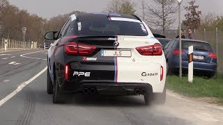 700HP BMW X6M w/ Akrapovic Exhaust - LOUD Pops & Bangs and Accelerations