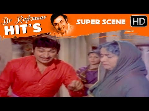 Dr.Rajkumar Movies - Manjula is stopped by dr.rajkumar kannada scenes | Sampathige Saval
