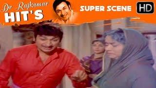 Dr.Rajkumar Movies - Manjula is stopped by dr.rajkumar kannada scenes   Sampathige Saval
