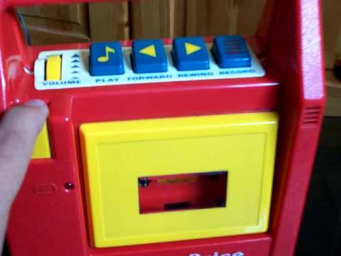 RED Fisher Price Tape Recorder