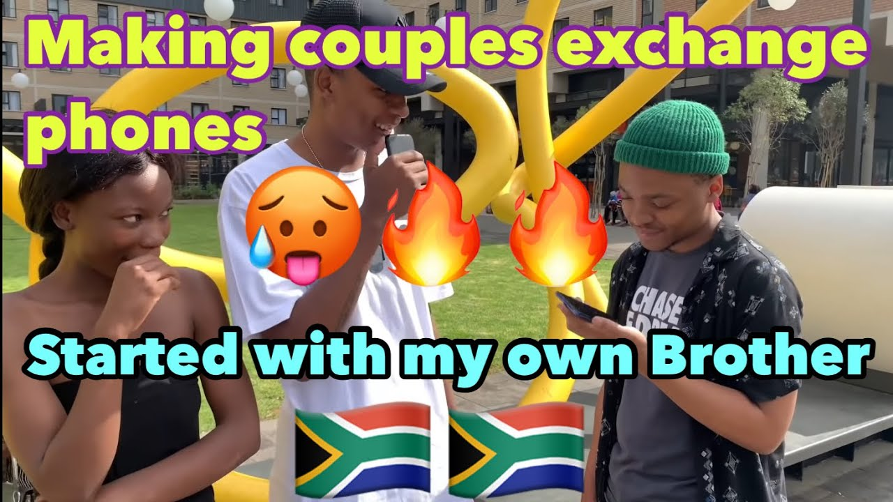 Download Making couples switch phones🥳 (South African 🇿🇦edition loyalty test)// public interview // EP 1😉