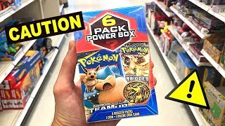 *DO NOT BUY THIS BOX!* Opening NEW 6 Pack Power Pokemon Cards Boxes AT WALMART STORE!