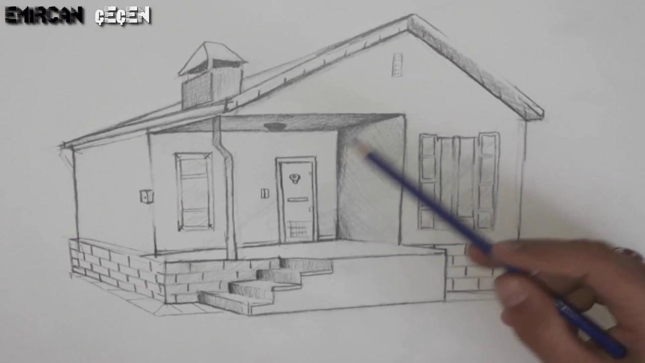 Basit Ev çizimi Ilk Videom Simple Home Drawing çizim 1 Youtube